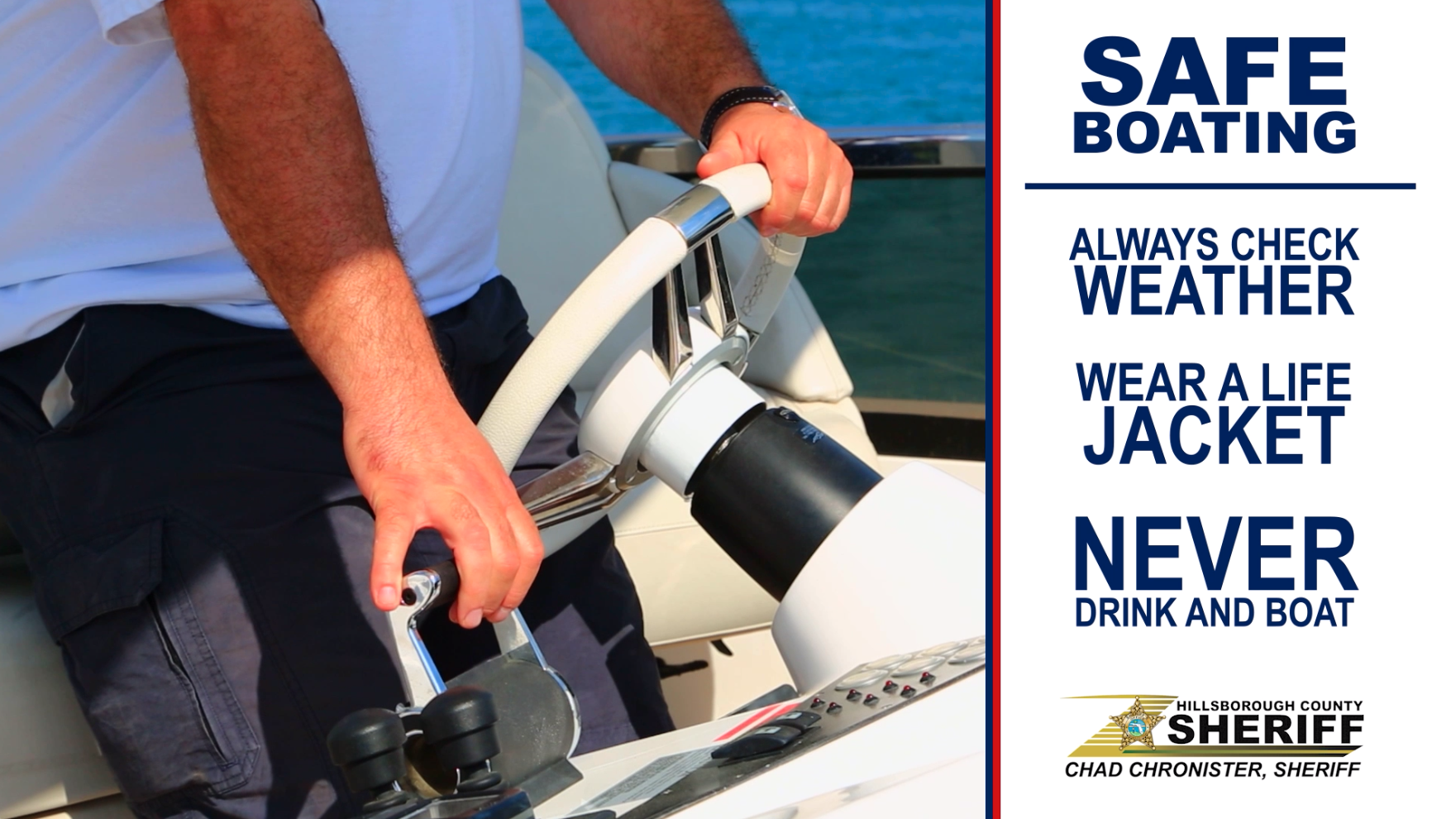 """Operation Dry Water"" to raise awareness of the dangers of boating under the influence this Fourth of July weekend"