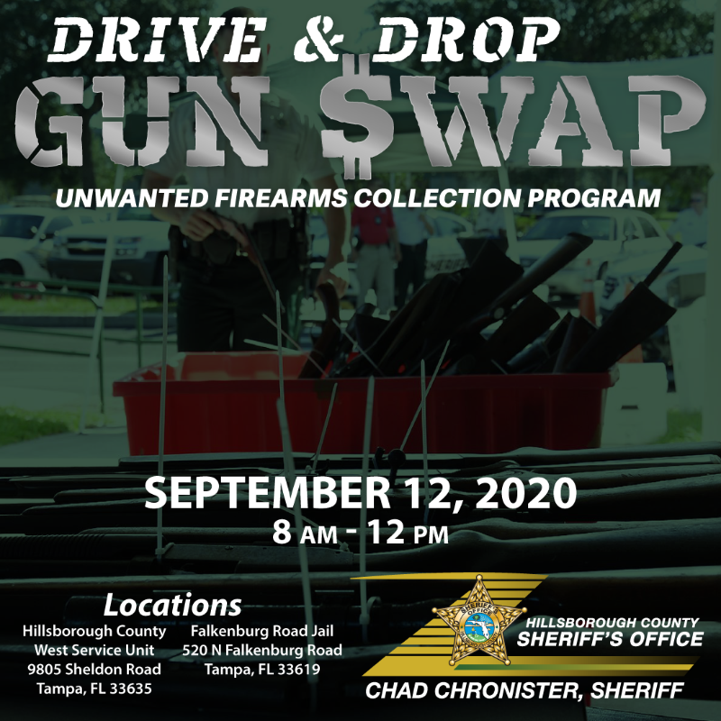 "HCSO to hold ""Drive & Drop Gun Swap"" Saturday at two locations"