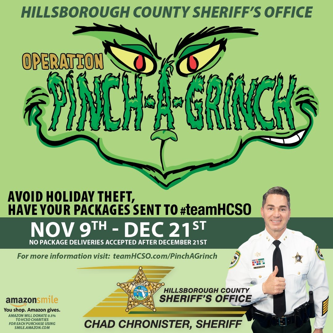HCSO launches Operation Pinch-A-Grinch